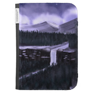 Violet Night with Snow case for Kindle