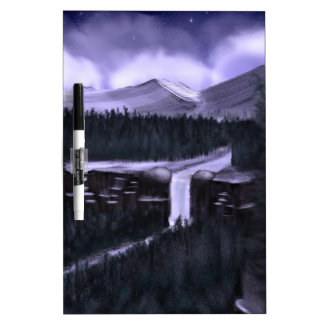 Violet Night with Snow Dry-Erase Boards