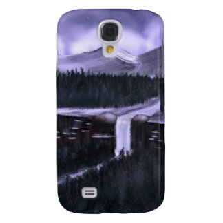Violet Night with Snow Galaxy S4 Covers
