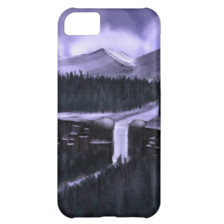 Violet Night with Snow iPhone 5C Case