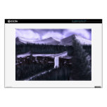 Violet Night with Snow Laptop Decal