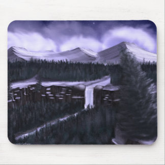 Violet Night with Snow Mousepads