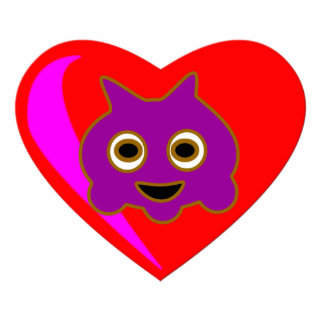 Violet On Heart Pin Cutout