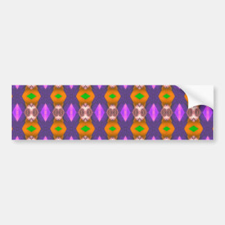 Violet Orange Chains Abstract Pattern Car Bumper Sticker