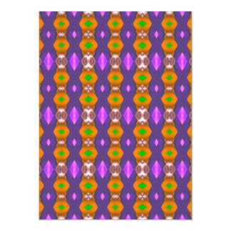 Violet Orange Chains Abstract Pattern Card