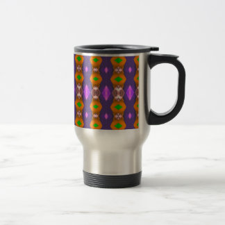 Violet Orange Chains Abstract Pattern Travel Mug