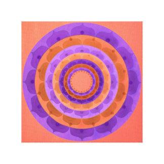 Violet orange Mandala Canvas Print
