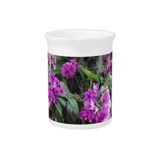 Violet Orchids Beverage Pitcher