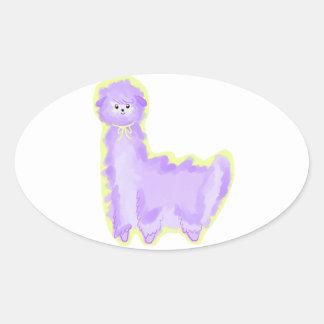 Violet Oval Sticker