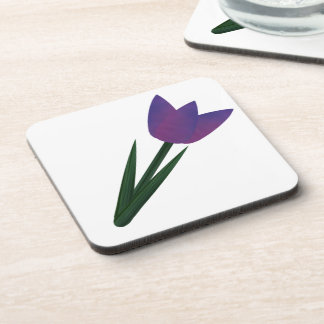 Violet Patchwork Tulip Coaster Set