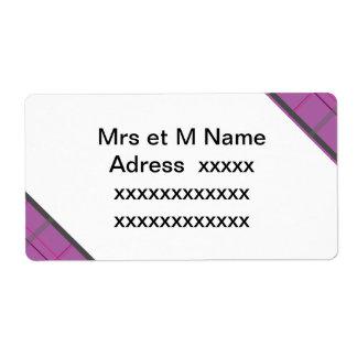 violet patterns label