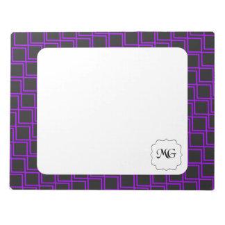 violet patterns notepad