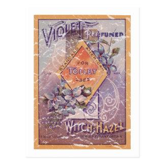 Violet Perfumed - 1903- distressed Postcard