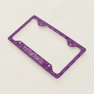 Violet Personalized Diamond Plate Cover by Janz