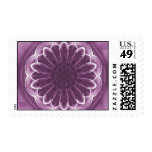 Violet Petals Abstract Postage