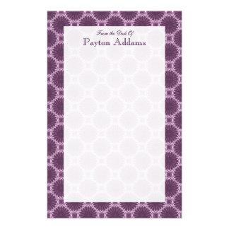 Violet Petals Art Pattern 1 - Message Stationery