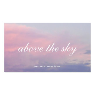 Violet pink clouds zen sunset sky photograph card Double-Sided standard business cards (Pack of 100)