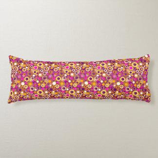 Violet Polka Dot Pattern Body Pillow