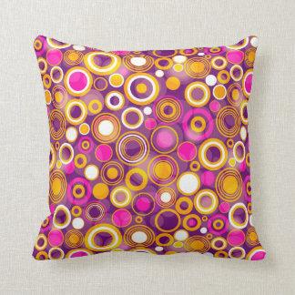 Violet Polka Dot Pattern Throw Pillow