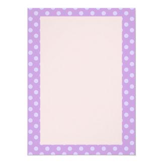 Violet Polka Dots, Pink Background Card