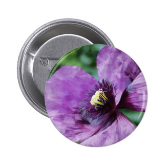 Violet Poppies / Purple Poppies Button