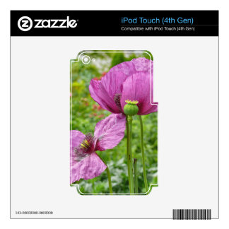Violet Poppies / Purple Poppies iPod Touch 4G Skins