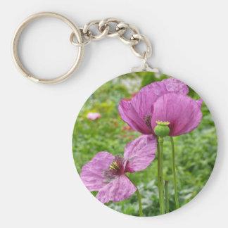 Violet Poppies / Purple Poppies Keychain