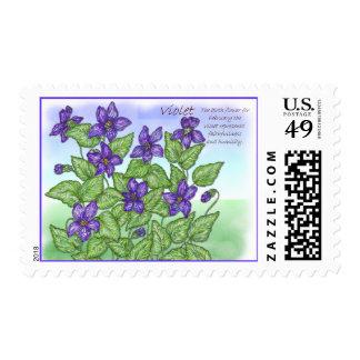 Violet Postage Stamp