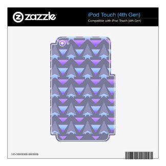 Violet Print Skins For iPod Touch 4G