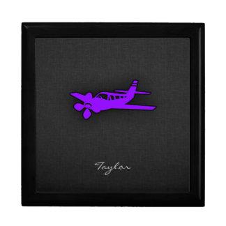 Violet Purple Airplane Keepsake Box