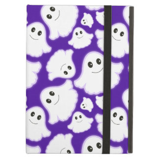 Violet Purple and White Halloween Ghost Ghosts iPad Air Covers