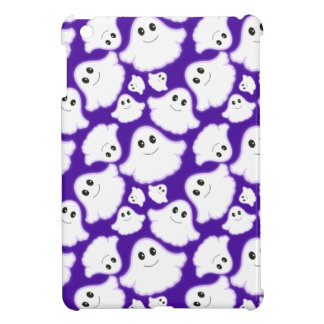 Violet Purple and White Halloween Ghost; Ghosts iPad Mini Covers