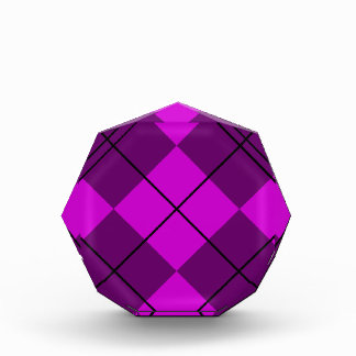 Violet Purple Argyle Acrylic Award
