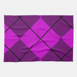 Violet Purple Argyle Hand Towel
