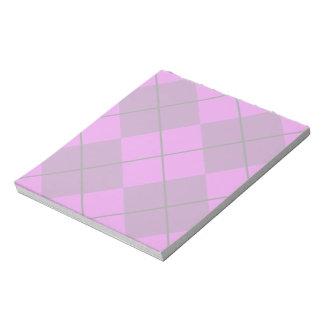 Violet Purple Argyle Notepad