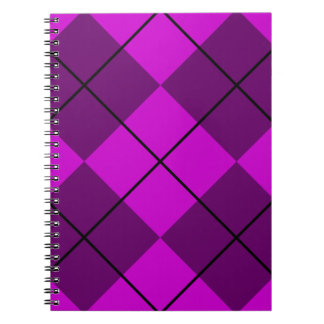 Violet Purple Argyle Spiral Notebook
