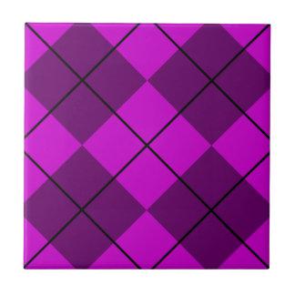 Violet Purple Argyle Tile
