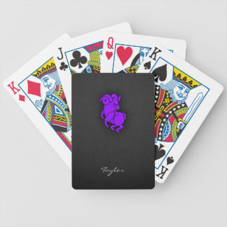 Violet Purple Aries Bicycle Playing Cards
