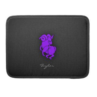 Violet Purple Aries Sleeve For MacBooks