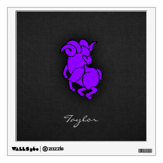 Violet Purple Aries Wall Decal