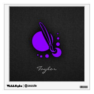 Violet Purple Artist Paintbrush Wall Sticker