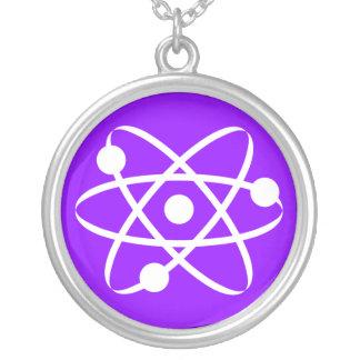 Violet Purple Atom Necklace