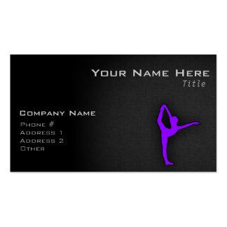 Violet Purple Ballet Dancer Business Card Templates