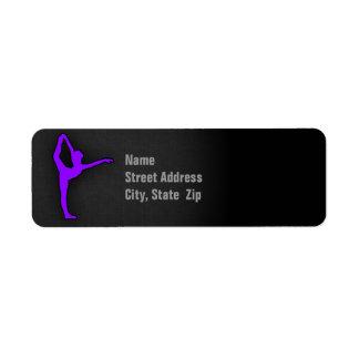 Violet Purple Ballet Dancer Label