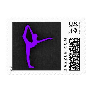 Violet Purple Ballet Dancer Postage Stamps