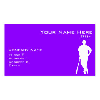 Violet Purple Baseball, Softball Double-Sided Standard Business Cards (Pack Of 100)