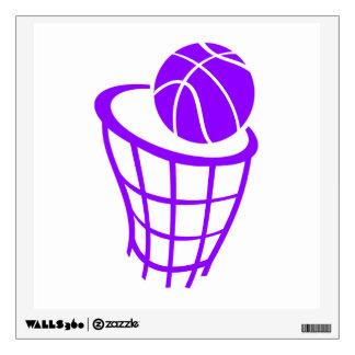 Violet Purple Basketball Wall Decal