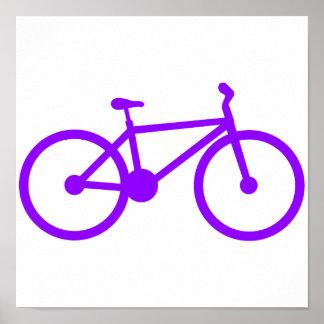 Violet Purple Bicycle Poster