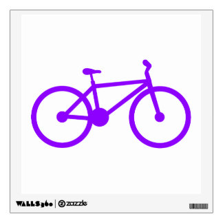 Violet Purple Bicycle Wall Graphic