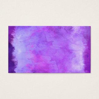 Violet Purple Blue Watercolor Texture Pattern Business Card